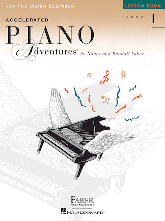 Accelerated Piano Adventures for the Older Beginner Level 1 Lesson Book