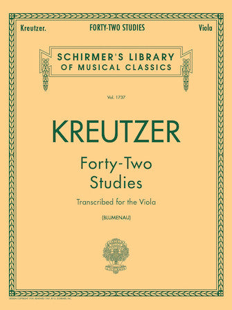42 Studies for the Viola Kreutzer