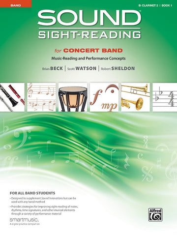 Sound Sight-Reading for Concert Band 2nd Bb Clarinet Book 1