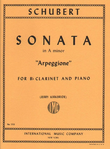 "Sonata in A Minor for Clarinet and Piano, D. 821 ""Arpeggione"" - Schubert"