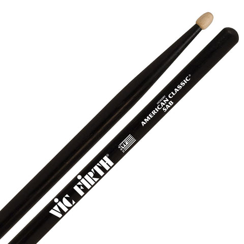 Vic Firth American Classic 5A Black Finish Wood Tip Drumsticks