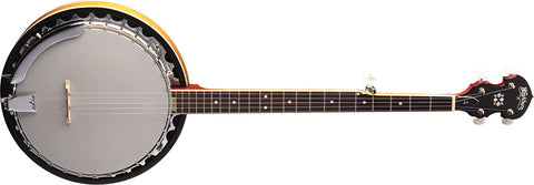 Washburn Americana Series 5-String Sunburst Gloss Banjo