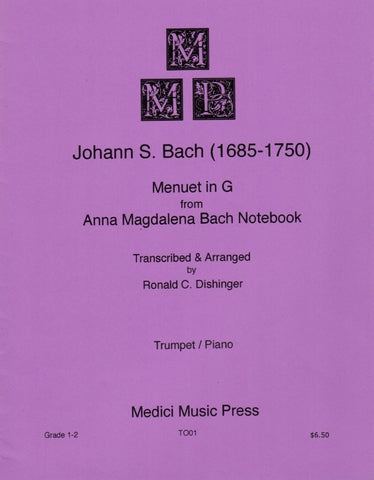Bach Menuet in G for Trumpet & Piano