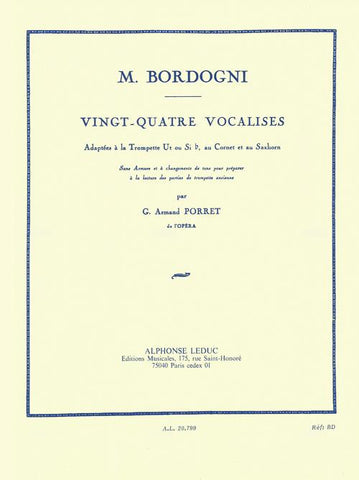 Vingt-Quatre Vocalises for Trumpet - Bordogni