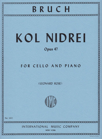 Bruch, Kol Nidrei Op. 47 for Cello & Piano