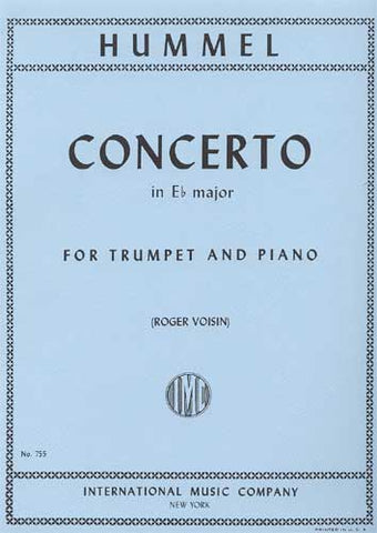 Hummel Concerto for Trumpet & Piano in E Flat Major