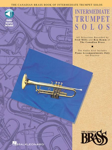 Canadian Brass Book of Intermediate Trumpet Solos, Book & CD