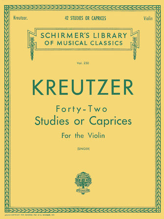 42 Studies or Caprices for Violin Kreutzer