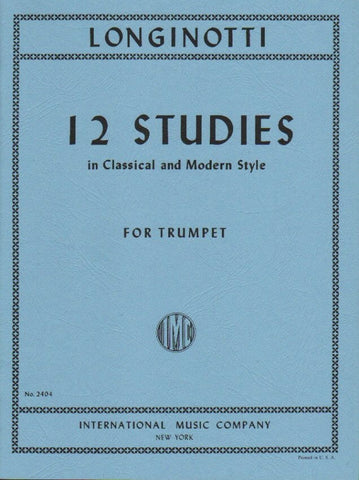 12 Studies for Trumpet - Longinotti