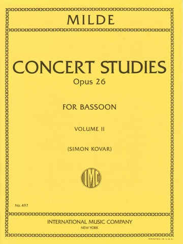 Concert Studies Op. 20 for Bassoon: Volume II - Milde
