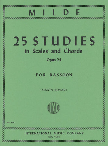 Milde, 25 Studies in Scales and Chords Op. 24 for Bassoon