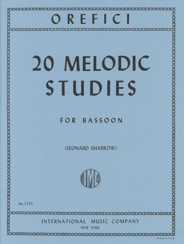 20 Melodic Studies for Bassoon - Orefici