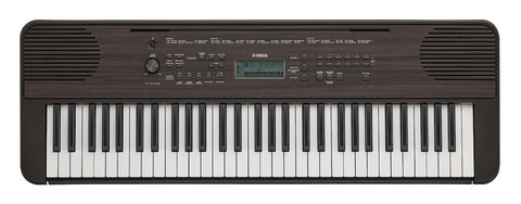 Yamaha PSRE-360 Dark Walnut Grain 61-Key Portable Keyboard