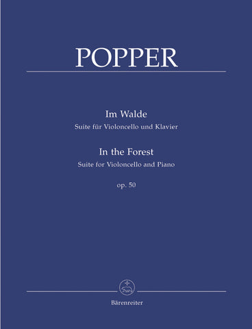 Im Walde / In the Forest Op. 50 for Cello & Piano - Popper