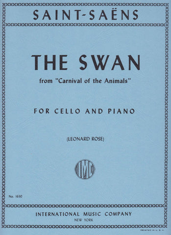 The Swan, for Cello & Piano - Saint-Saens