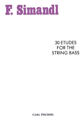 Simandl, 30 Studies for the Development of Tone for String Bass