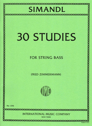 30 Studies for the Development of Tone for String Bass Simandl