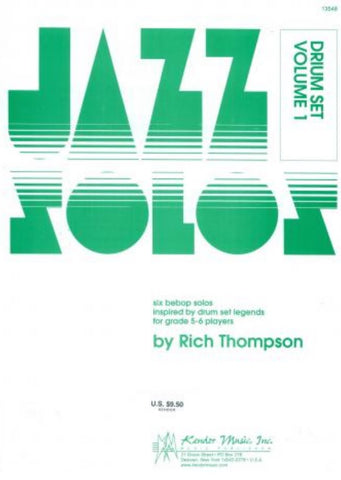 Jazz Solos For Drum Set Vol. 1 - Thompson