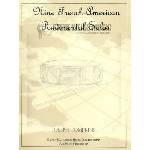 Nine French-American Rudimental Solos Vol. 1 - Tompkins