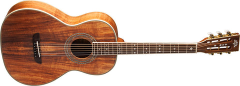 Washburn Koa Parlor Acoustic Guitar
