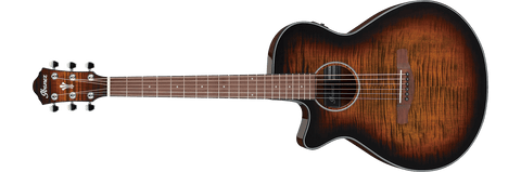 Ibanez AEG70LTIH Tiger Burst Left-Handed Acoustic Electric Guitar
