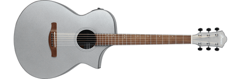 Ibanez AEW Series Silver Metallic Gloss Acoustic Electric Guitar