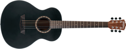 Washburn Apprentice Series Mini Black Matte Acoustic Guitar