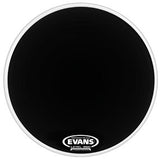 "Evans 22"" Resonant Black Coated Bass Drumhead"