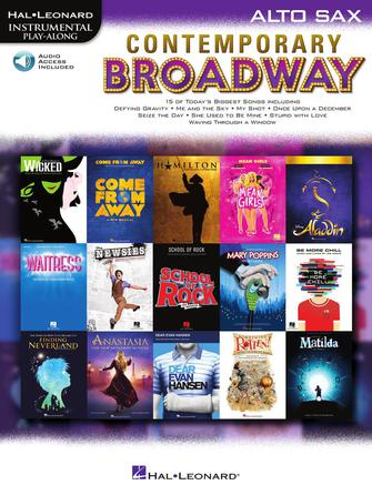 Hal Leonard Instrumental Play-Along -Contemporary Broadway for Alto Sax