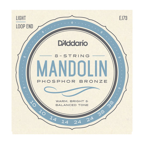 D'Addario Phosphor Bronze Light Mandolin Strings, 10-38