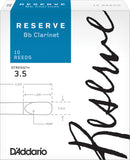 D'Addario Reserve Bb Clarinet Reeds, 10-Pack