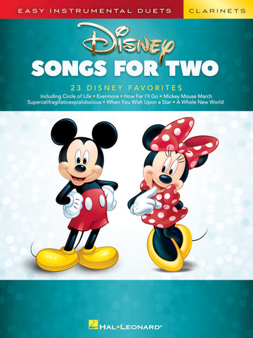 Easy Instrumental Duets-Disney Songs for Two Clarinets