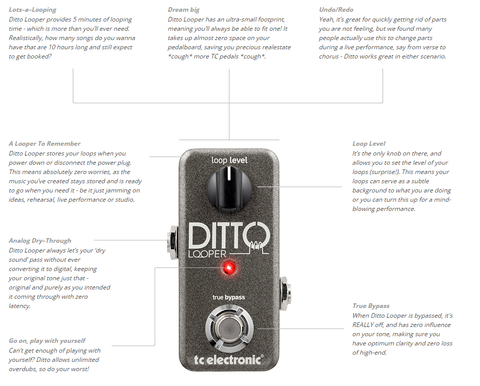 Tc electronic ditto looper guitar pedal brick mortar music tc electronic ditto looper guitar pedal solutioingenieria Images