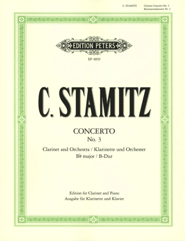 Concerto No 3 in B Flat Major for Clarinet and Piano - Stamitz