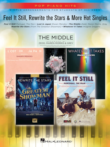 Pop Piano Hits-Feel it Still, Rewrite the Stars & More Hot Singles-Simple Arrangements