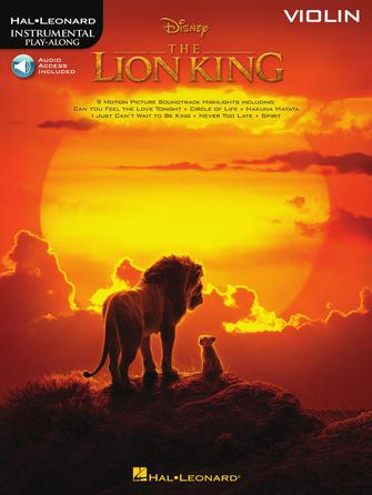 Hal Leonard Instrumental Play-Along -Disney's The Lion King for Violin