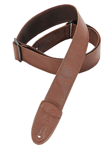 Levy's Leathers Brown Garment Leather Guitar Strap