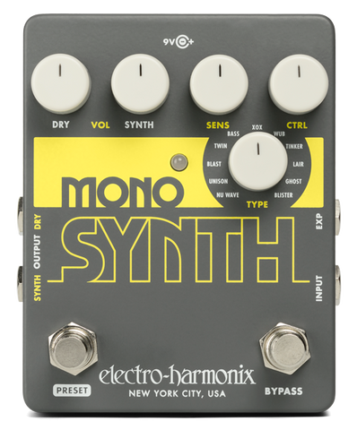 Electro-Harmonix Mono Synth Guitar Synthesizer Pedal