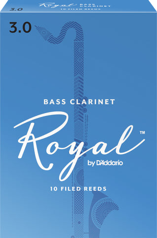 Rico Royal Bass Clarinet Reeds, 10-Pack