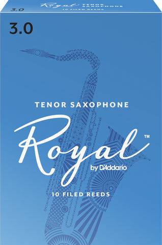 Rico Royal Tenor Saxophone Reeds, 10-Pack