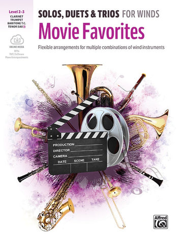Solos, Duets, & Trios for Winds-Movie Favorites Clarinet/Trumpet/Tenor Sax