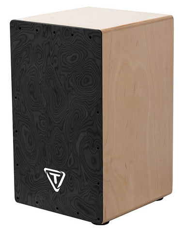 Tycoon Percussion 29 Series Siam Oak Cajon with Black Makah Burl Front Plate