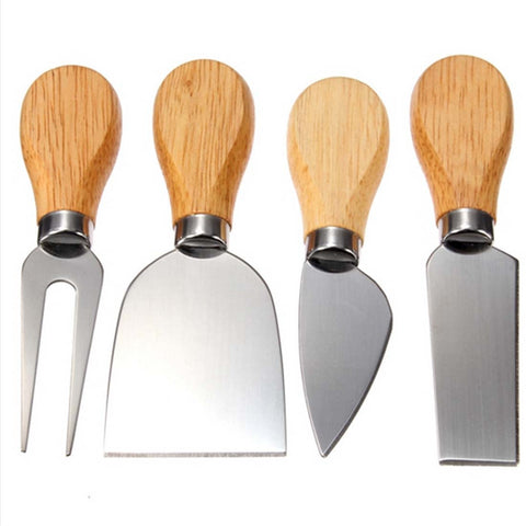 Oak Handle Cheese Knife Set