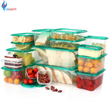 17Pcs/set Plastic Storage Box Plastic Food Container Microwavable Food Storage Container Set Fresh Box Organizer Bento Lunch Box