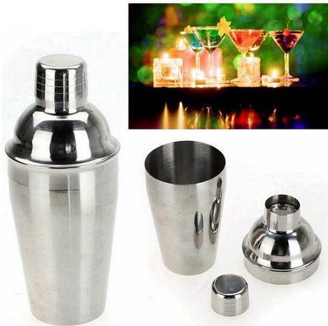 Stainless Steel Cocktail Shaker Bar Wine Martini Drink Mixer Set Party Bartender Tool Kit Barware Drinkware