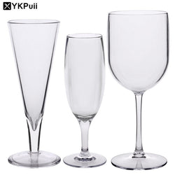 Acrylic Wine Glasses Champagne Glass Wine Glasses Brandy Cocktail Glass Bar Cups Wedding Party Dinner Glassware