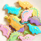 ENGDASH 4pc/Set Dinosaur Shape Cookie Molds Fondant Cookie Cutters Kitchen Accessories for Baking Cake Decorating Tools