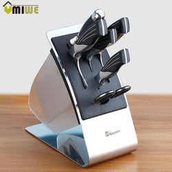 Kitchen Knife Block Knives Holder Organizer Metal Rack Storage Block Premium Stainless Steel Knife Rest Shelf Tools Accessories