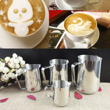 Stainless Steel Coffee Pitcher Milk Frothing Pitcher Pull Flower Mug Cappuccino Latte Art Milk Frothing Jug New Cooking Tools