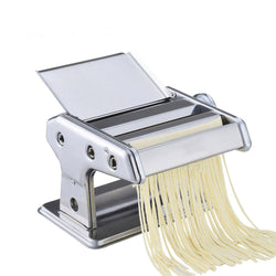Stainless Steel ordinary 2 Blades Pasta Making Machine Manual Noodle Maker Hand Operated Spaghetti Pasta Cutter Noodle Hanger